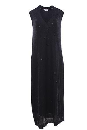 Linen and silk long dress BRUNELLO CUCINELLI | 5032276 | M10551A72CV835