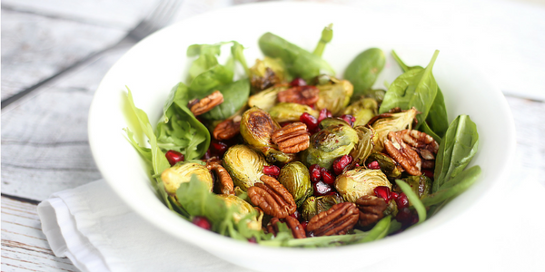Brussels Sprout Pecan and Pomegranate Salad