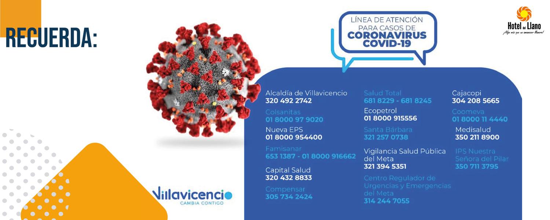 Lineas Emergencia Alcaldía de Villavicencio