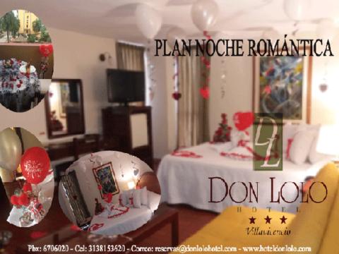 Plan noche romántica completo - dos