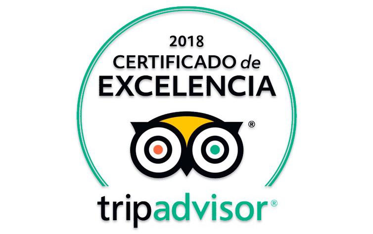 Certificado de Excelencia 2018 - Tripadvisor