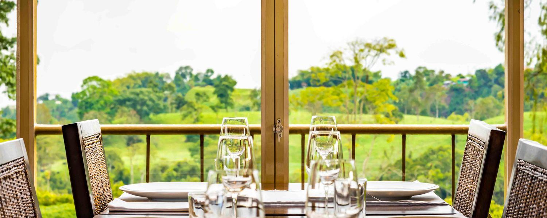Restaurante con vista panorámica