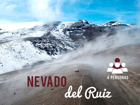 Volcán Nevado del Ruiz - 4 Personas, 1 Noche
