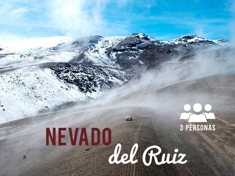 Volcán Nevado del Ruiz - 3 Personas, 2 Noches