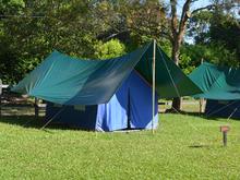 Camping - Carpa Tendida Para 4 Personas