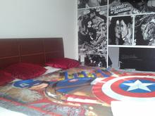 Habitación Romántica - Mujer Maravilla y Superman