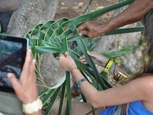 Mini curso de tejido en palma de Coco
