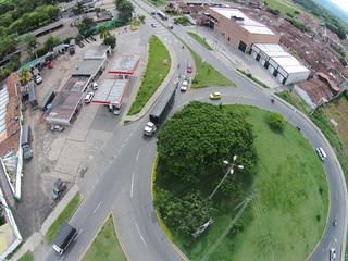 Aerial shot over Cartago Valle