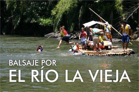 Balsaje pelo rio La Vieja