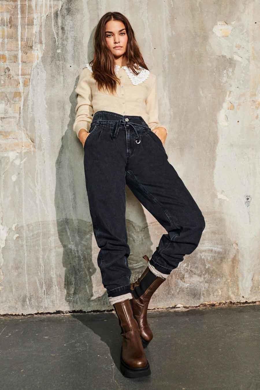 Jeans donna vita alta ONLY   LU-15235102BLKL34