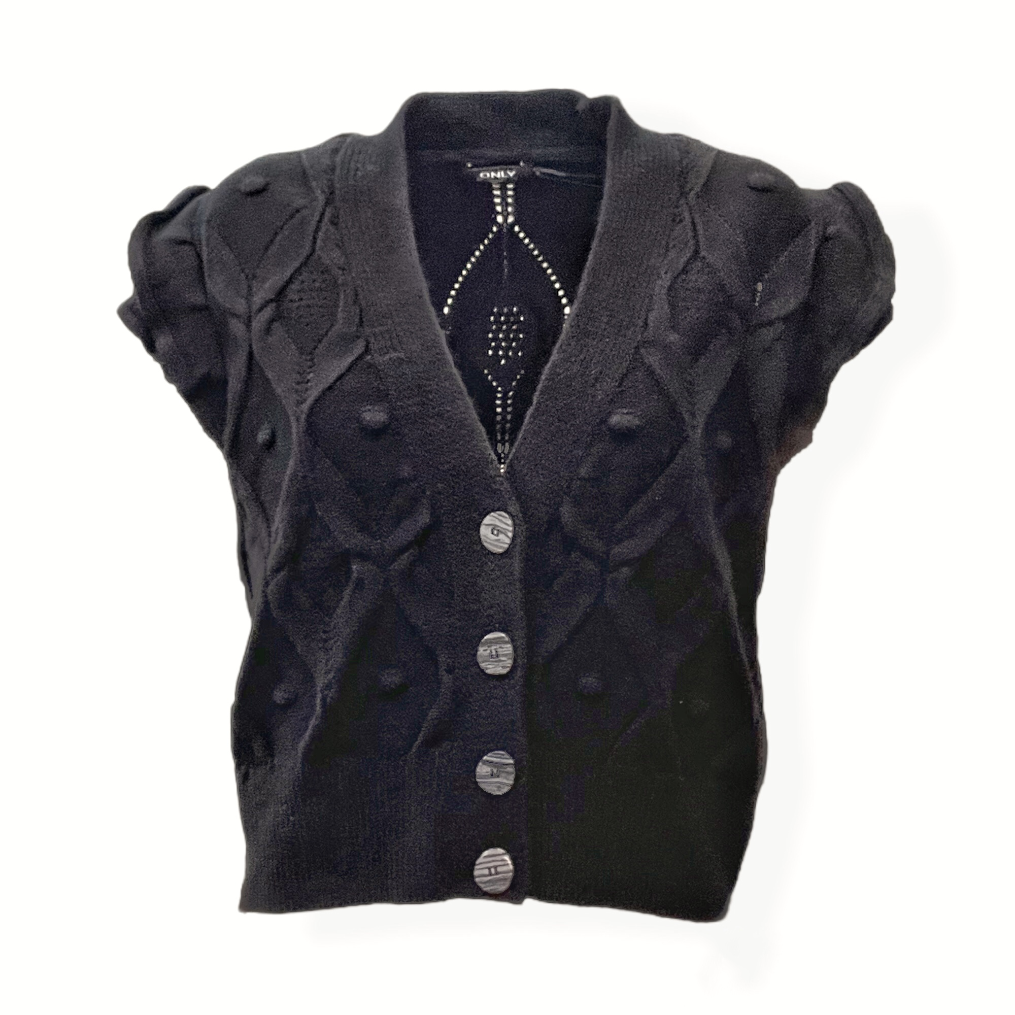 Maglia gilet donna maniche rouches ONLY | OPUS-15239497005