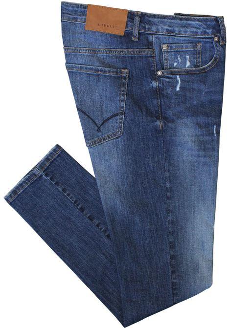 Jeans uomo slim fit con rotture MARKUP | MK195003V01