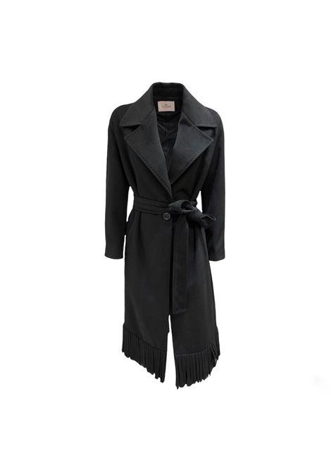 Cappotto lungo da donna con frange MULISH DONNA   ROSSANA-DMCP11005
