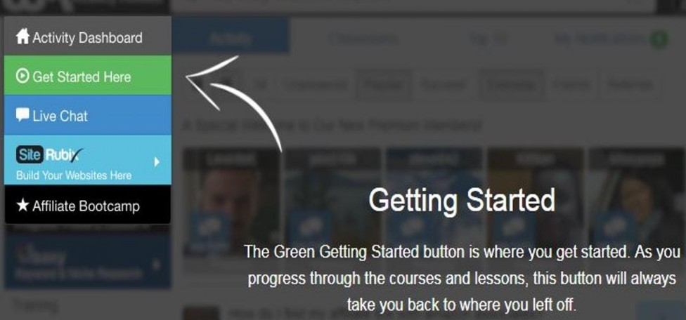 Wealthy Affiliate Getting Started Link