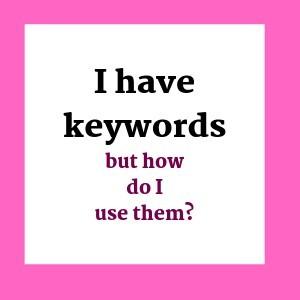 How do I use Keywords