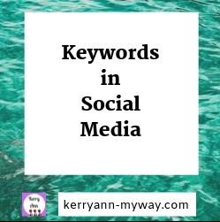 Using keywords in social media