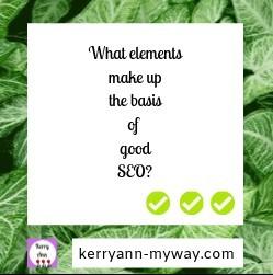 elements that make up good SEO