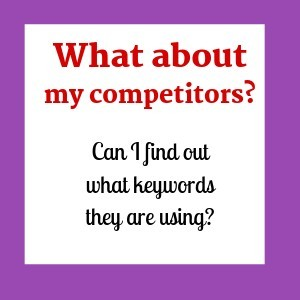 What is keyword research and does it apply to researching competitors