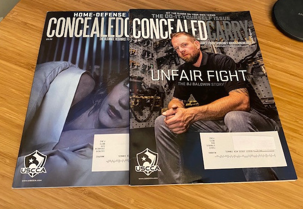 USCCA Gold Membership Includes Concealed Carry Magazine