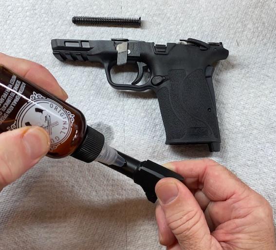 Cleaning a Shield 9mm EZ with Original Gun Oil