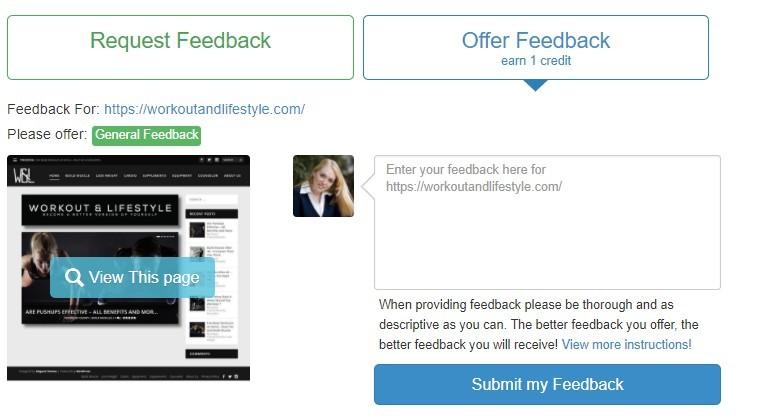 site feedback