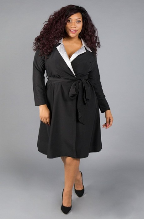 plus size office dress