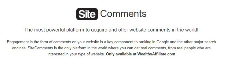 site comments
