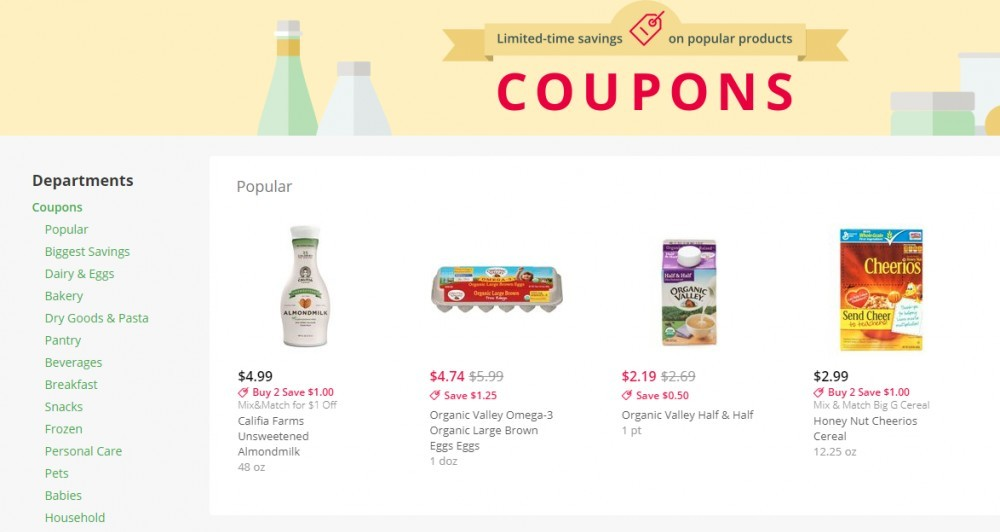 instacart coupons