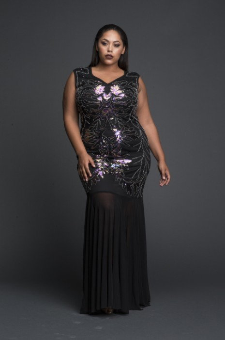 sequin plus size dress
