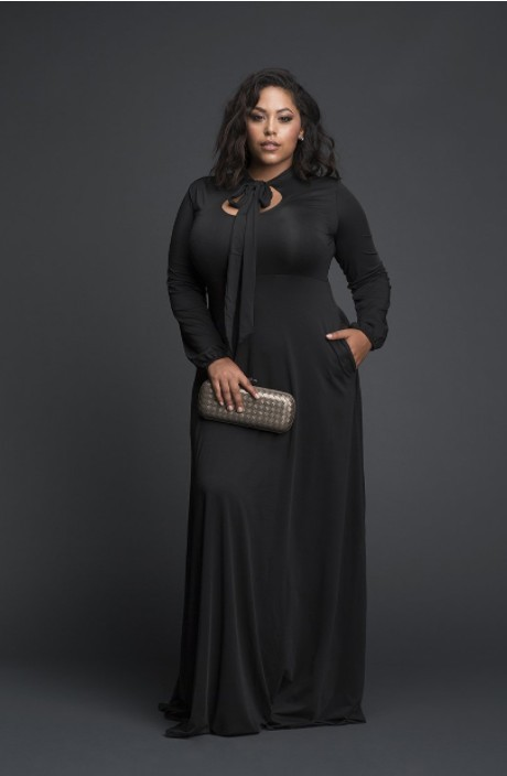 plus size formal black dress