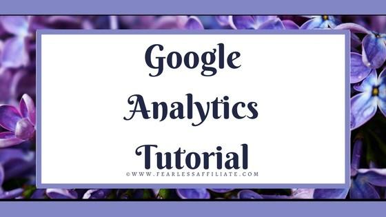 blog title placard says google analytics tutorial