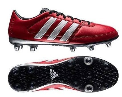 A red Adidas Performance Men's Gloro 16.1 rugby boot