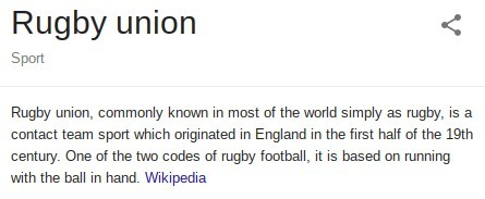 Rugby Union explained by Wikipedia