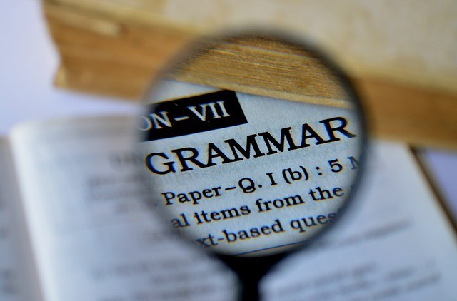 Have a grip on basic grammar