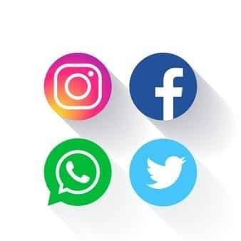 Social media icon buttons