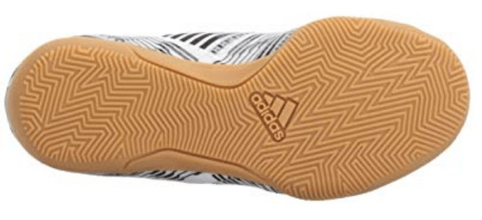 Bottom view of the Adidas nemeziz indoor soccer shoe outsole