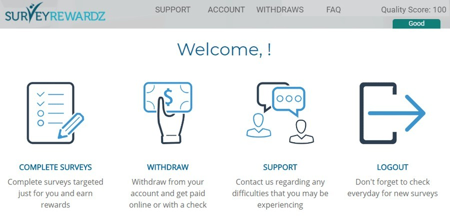 welcome to the survey rewardz review