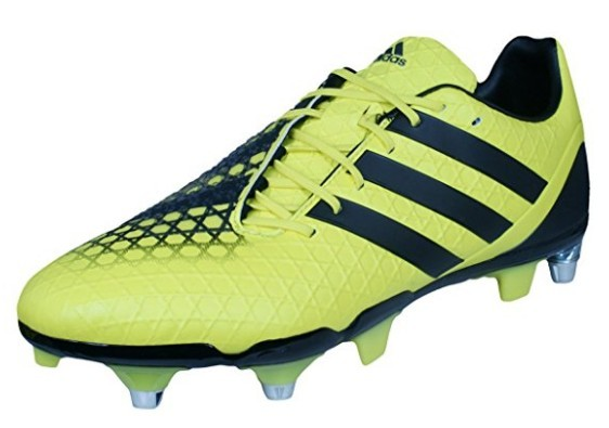 A yellow adidas Predator Incurza Rugby Boot