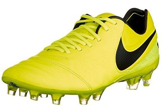 A yellow Nike Tiempo Legend VI FG Cleat