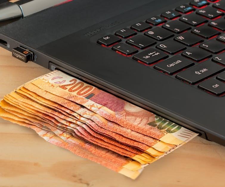 sending money through your laptop
