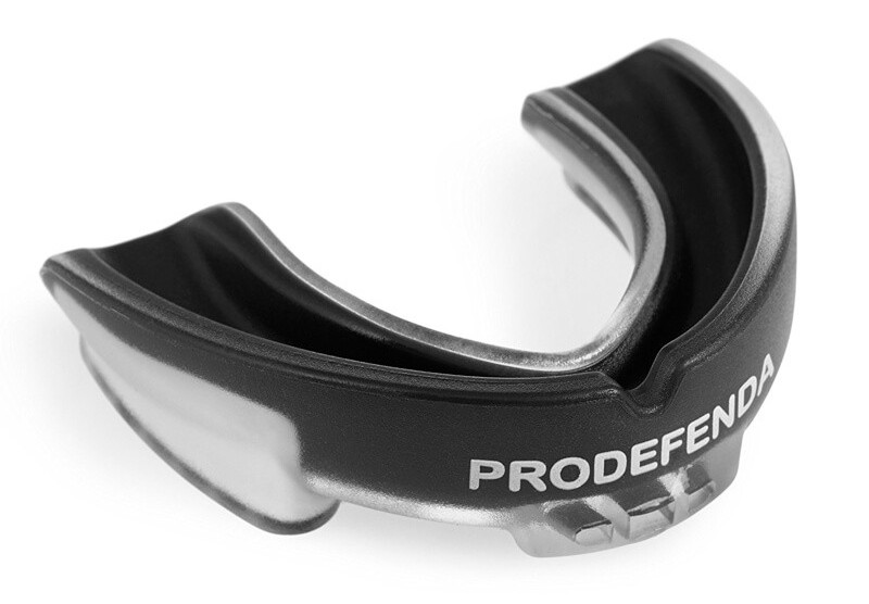 A black prodefender mouthguard