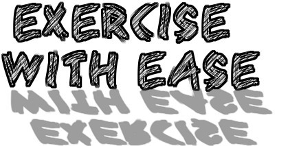 Exercise with ease graffiti logo image