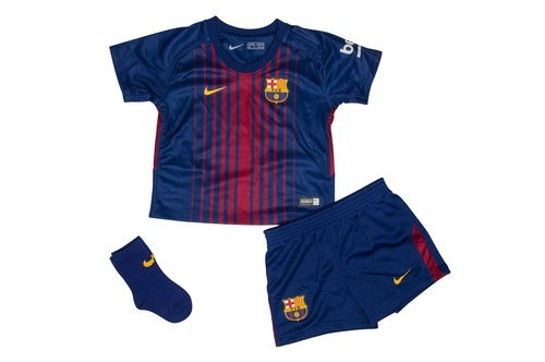 The 2017/18 Barcelona home shirt for infants