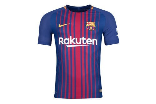 The 2017/18 Barcelona home shirt for kids