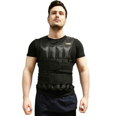 man wearing a 20kg DKN Weighted Vest