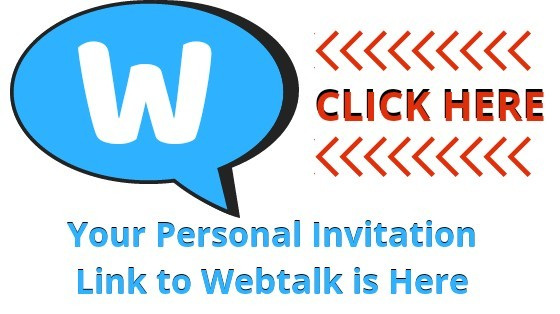 Your personal invitation link to webtalk is here click here
