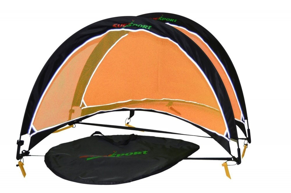 Orange and black SUESPORT Pop Up Soccer Goals