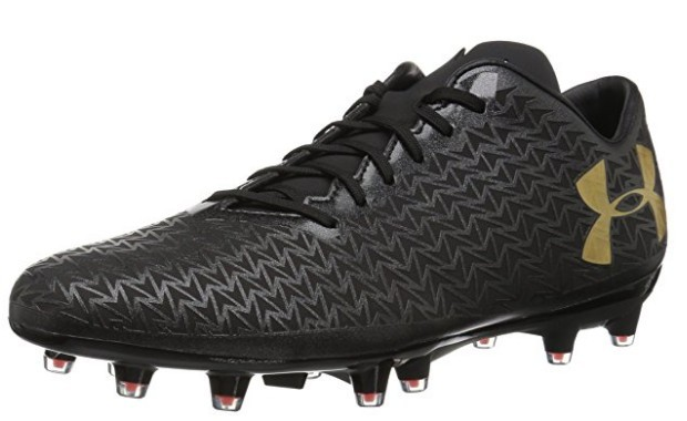 A Black Under Armour Men's Rugby CoreSpeed Firm Ground Boot