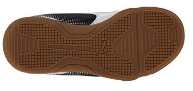 Bottom view of the Pumaadreno soccer shoe outsole