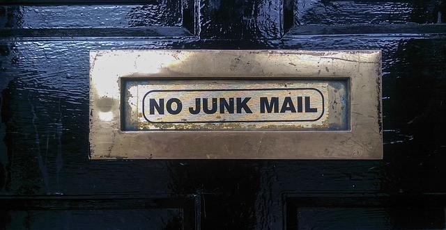 no junk mail to avoid online scams and working from home